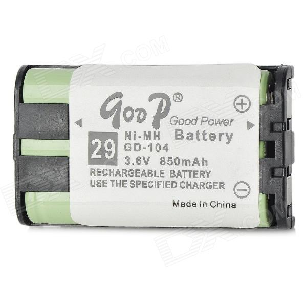 Goop GD-104 Cordless Phone Rechargeable 850mAh NiMH Battery - Green от DX.com INT