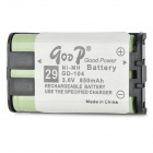 Goop GD-104 Cordless Phone Rechargeable 850mAh NiMH Battery - Green