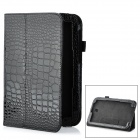 "Crocodile Pattern Protective PU Case w/ Stand for 8"" Samsung N5100 - Black"