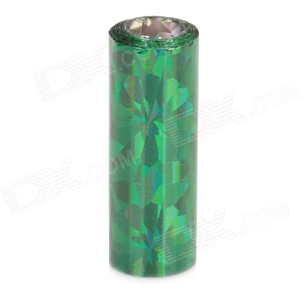 32# Shining Green Nail Art Tin Foil Paper isme shining full housing decoration paper stickers for iphone 5 pink