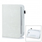 """Crocodile Pattern Protective PU Case w/ Stand for 8"""" Samsung N5100 - White"""