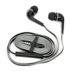Hengjia AE41-IPH In-Ear Stereo Earphone w/ Microphone for Iphone + Ipad + Ipod - Black