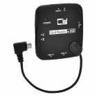 CY GT-037-RI Angled Micro USB 4-Port USB Hub + Card Reader for Samsung Galaxy S2 i9100 i9200 - Black