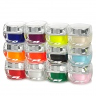 Nail Art UV Gel Nail Builder Tips Glue - Multicolored (12 PCS)
