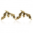 Cool Bat Style Golden Plated Alloy Earrings - Bronze (Pair)