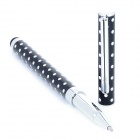 2-in-1 Polka Dots Pattern Capacitive Screen Stylus w/ Ball Pen for Iphone Ipad - Black + White