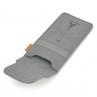 Protective Nubuck Leather Carrying Case for PSP - Grey