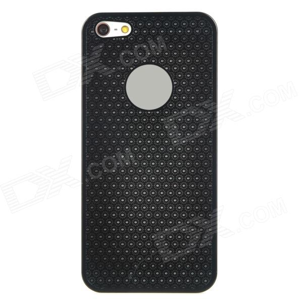 Ultra-Thin Hollow Sunflower Pattern Protective Titanium Alloy Back Case for Iphone 5 - Black