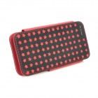 IMAX Star Pattern Protective PU Leather Case for Iphone 5 - Black + Red
