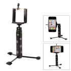 Fotopro EP-2 Mini Retractable Pocket Tripod for Smart Phone / Digital Camera - Black + Silver