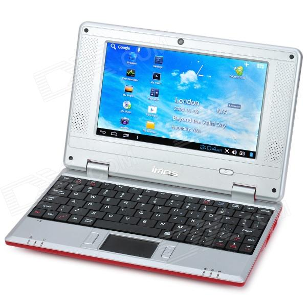 "IMOS 703A 7"" Screen Android 4.1 Netbook w/ Wi-Fi / RJ45 / Camera / HDMI / SD Card Slot - Red"