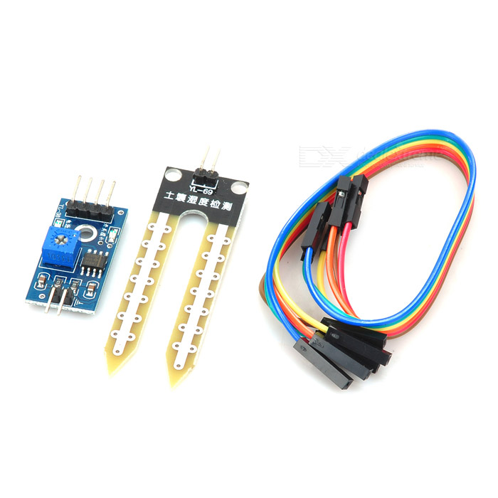 Soil Humidity Moisture Detection Sensor Module - Blue + Black + White