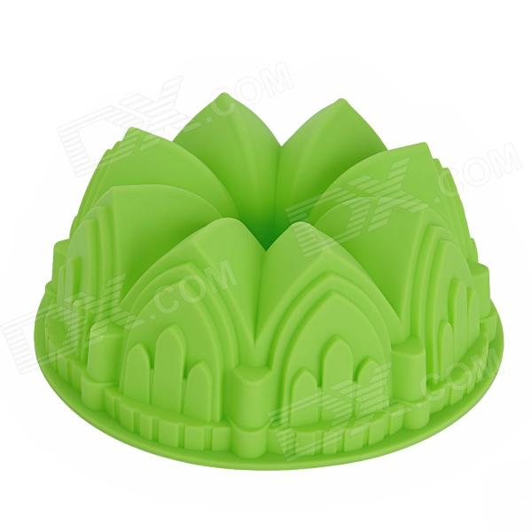 Crown Style Silicone DIY Cake Dessert Mold - Green cntomlv новые кухонные инструменты dumpling jiaozi maker устройство easy diy dumpling mold dumpling wrapper cutter making machine
