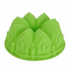 Crown Style Silikon DIY Cake Dessert Mold - Green