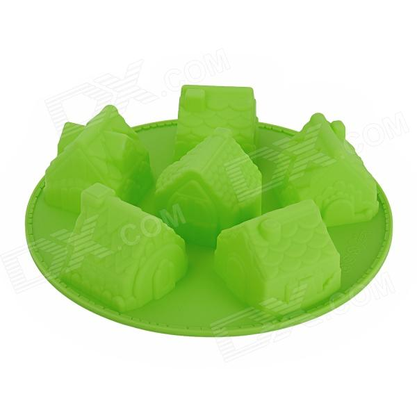 House Style Silicone DIY Cake Dessert Mold - Green cntomlv новые кухонные инструменты dumpling jiaozi maker устройство easy diy dumpling mold dumpling wrapper cutter making machine