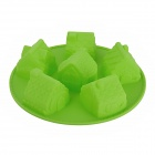 House Style Silicone DIY Cake Dessert Mold - Green