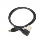 CY U2-058-0.5M 90 Degree Right Bend USB to Mini USB Extension Cable for HDD / Cell Phone - Black