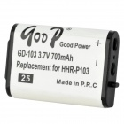 Goop GD-103 Cordless Phone Rechargeable 700mAh Li-ion Battery - White