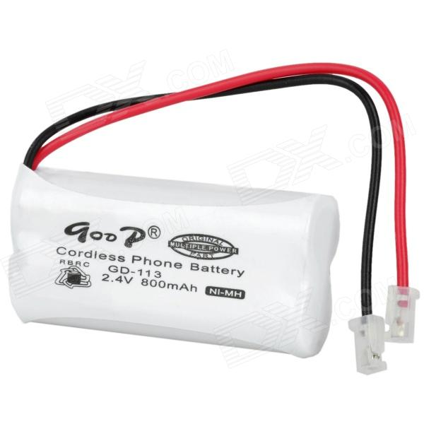 Goop GD-113 Cordless Phone Rechargeable 800mAh Ni-MH Battery - White