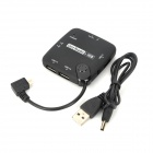 CY-037 GT-LE Угловой Micro USB 4-портовый концентратор USB + Card Reader для Samsung Galaxy S2 + More - черный