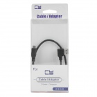 CY U2-056-BK 90 Degree Right Bend USB to Micro USB Extension Cable for HDD / Cell Phone - Black