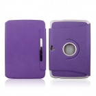 ENKAY ENK-7102 360 Degree Rotate Protective PU Leather Case Cover for Google Nexus 10 - Purple