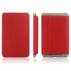 ENKAY ENK-7101 Protective PU Leather Case Cover for Google Nexus 7 - Red + Grey