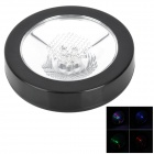 7-Color LED Light PC Cup Coaster Mat w/ Press Button - Black (3 x AAA)