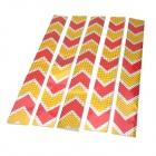 Arrow Pattern Car Body Reflective Warming Mark Sticker - Golden + Red + Silver (10 PCS)