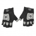 Scoyco BG06 Bicycle Cycling Half Finger Protection Breathable Gloves - Black + Grey (Pair / Size L)