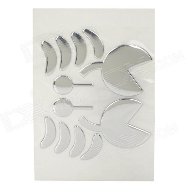 12-in-1 Crab Shape Professional Car Decoration Sticker - Silver