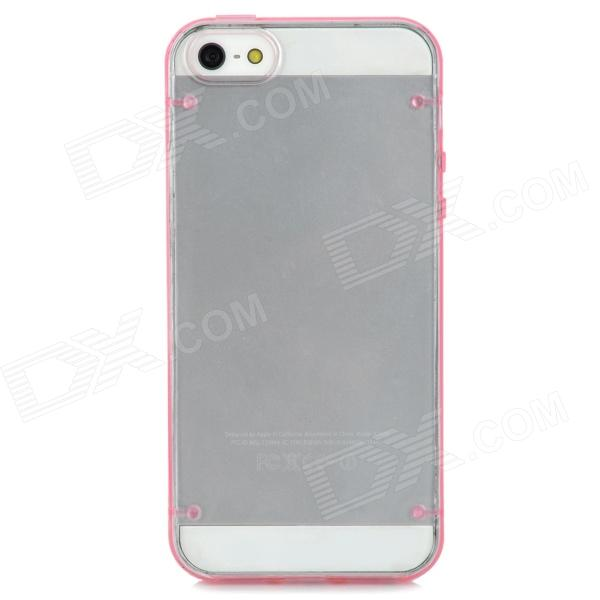 Protective Super Slim Plastic Case for Iphone 5 - Pink + Transparent
