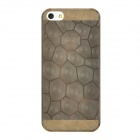 Fashion Cells Pattern Protective PVC Back Case for iPhone 5 - Translucent Brown