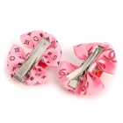Rose Style Hair Clip for Pet - Pink + Red (2 PCS)