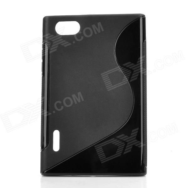"""S"" Style Protective TPU Back Case for LG F100L Optimus Vu - Black"
