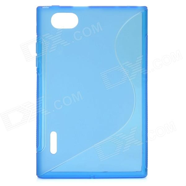 Protective TPU Back Case for LG F100L Optimus Vu - Translucent Blue s style protective tpu back case for lg g2 optimus g fluorescent red
