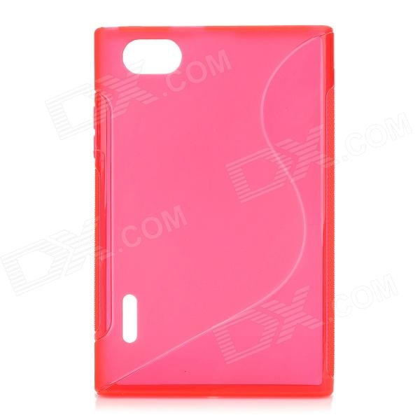 S Style Protective TPU Back Case for LG F100L Optimus Vu - Red s style protective tpu back case for lg g2 optimus g fluorescent red