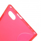 """S"" Style Protective TPU Back Case for LG F100L Optimus Vu - Red"
