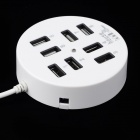 High Speed USB 2.0 8-Port HUB - White
