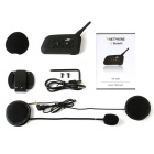 Bluetooth V2.0 + EDR 1-para-6 interphone motorcycle headset - preto