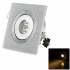 L2013THD-G101 1W 3500K 50lm Warm White Light LED Mini Ceiling Light - Silver + White (85~265V)