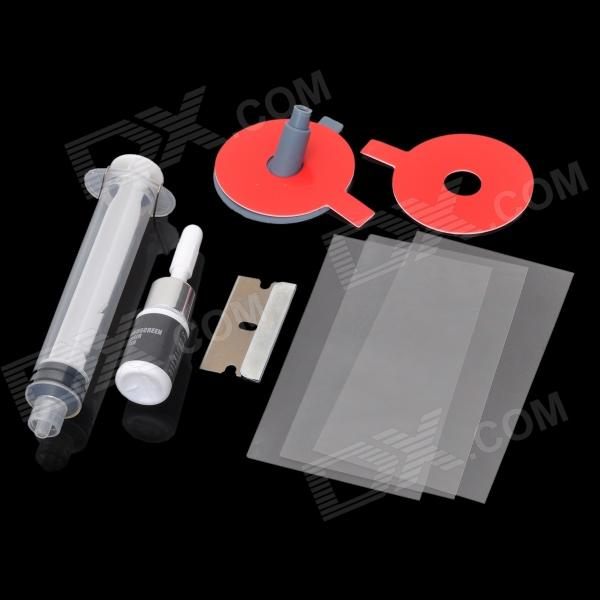 DIY Car Windshield Repair Kit - Green + Red + White + Grey недорого
