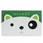 K520-1 Cute Dog Pattern Memo Pad Note Paper - Green + White + Black