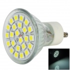 GU10 6500K 350lm 4.5W 24-SMD 5050 LED White Light Bulb - Silver (85~265V)
