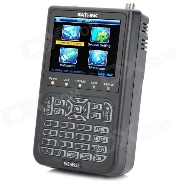 "SatLink WS-6922 Rechargeable 3.5"" Color Screen HD Satellite Finder w/ AV / USB - Black Tallahassee объявления новое"