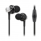 JBM MJ9013 Wired 3.5mm Plug In-Ear Earphones w/ Microphone for Iphone / Samsung - Black + Silver