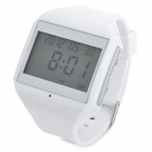 "HD-215 1.7 ""LCD Bluetooth v2.0 Voice Dial Uhr w / Hands-Free - Weiß"
