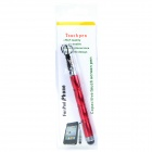 2-in-1 Mini Capacitive Screen Stylus Ball Pen w/ Strap for Ipad / Iphone - Red