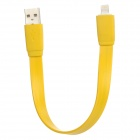 Bracelet Style USB Male to 8 Pin Lightning Charging Data Cable for iPhone 5 + iPad 4 - Yellow