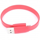 Bracelet Style USB-Stecker an 8 Pin Blitz Aufladen Datenkabel für iPhone 5 + iPad 4 - Red